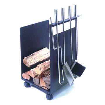 4pc Fireplace Tool Set with Basket (4pc Каминный набор инструментов с корзиной)
