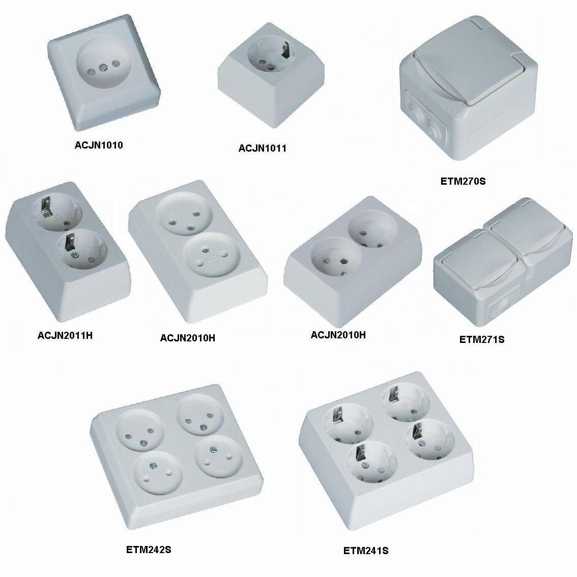 Surface-Type Wall Socket for Installation (Surface-Type: Prise murale pour l`installation)