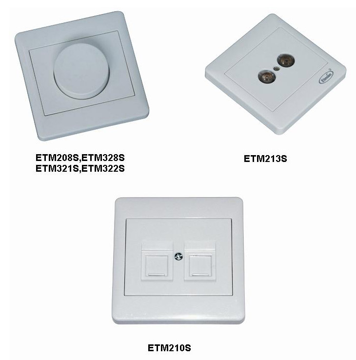 Dimmer, TV+R Socket Outlet & Telphone and Network Socket (Variateur, TV + R / Outlet & Telphone et Network Socket)