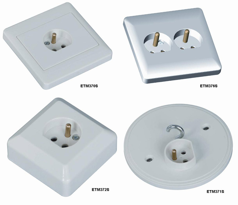 Lamp Socket for Fixed Installation (Douille de lampe pour l`installation fixe)