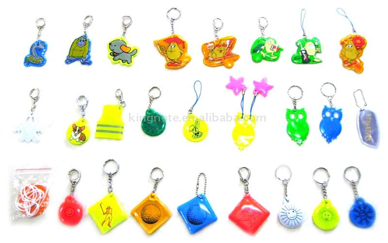 Reflective Key Chain Charms