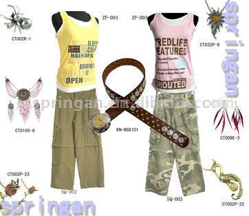 Fashion Clothing Set with Fashion Jewelry