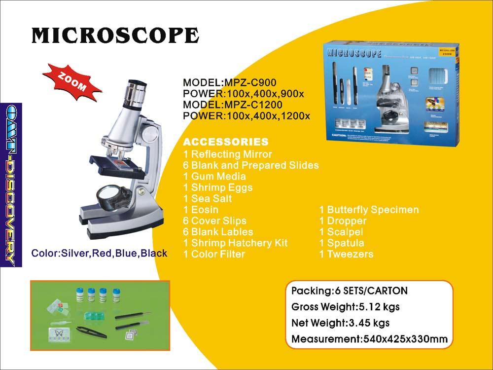 Children`s Microscope, Zoom, Optical Glass Lens (Детский микроскоп, Zoom, оптическое стекло объектива)