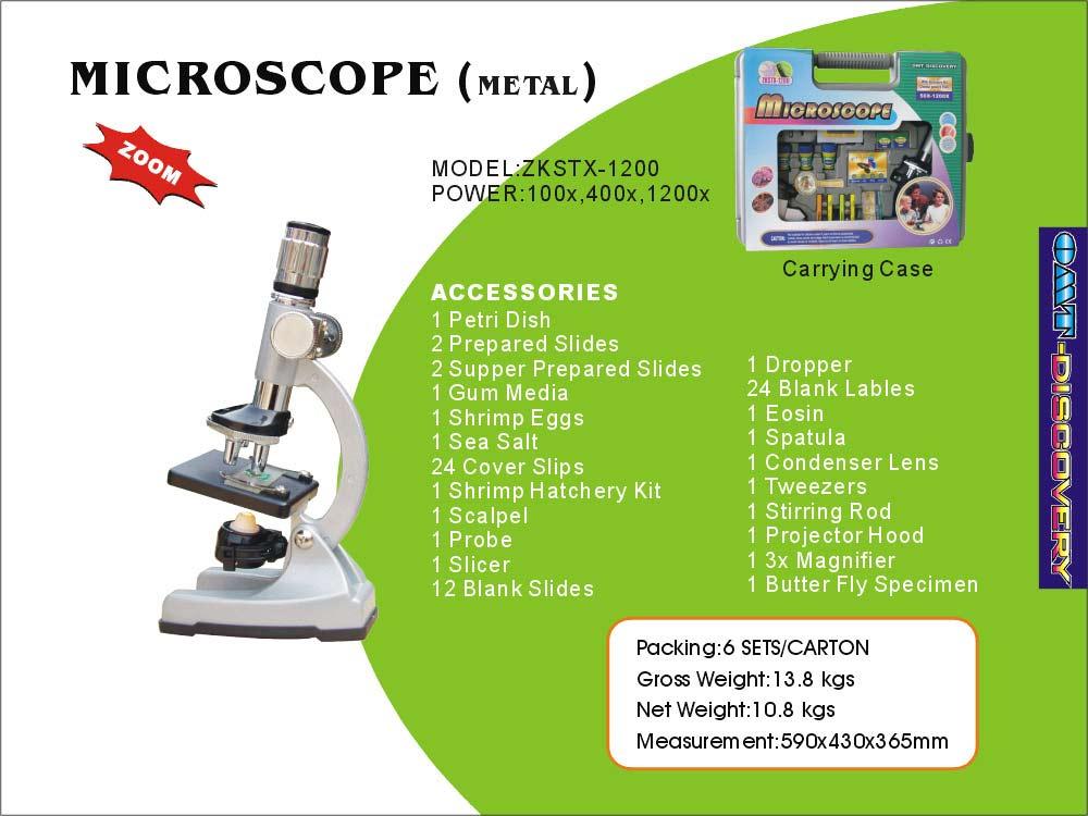 Metal Microscope, Plastic Suitcase, Wonderful Appearance (Металл микроскопов, пластиковые Чемодан, прекрасная Внешний вид)