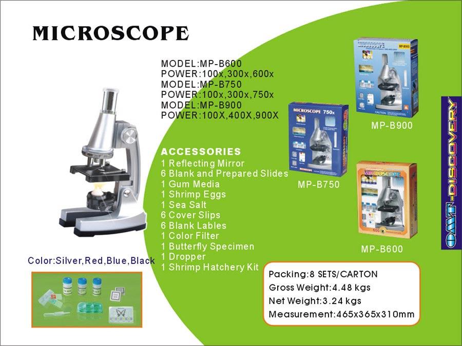 Educational Microscope, Optical Glass Lens, Novel Packing (Образование микроскоп, оптическое стекло объектива, Novel упаковки)