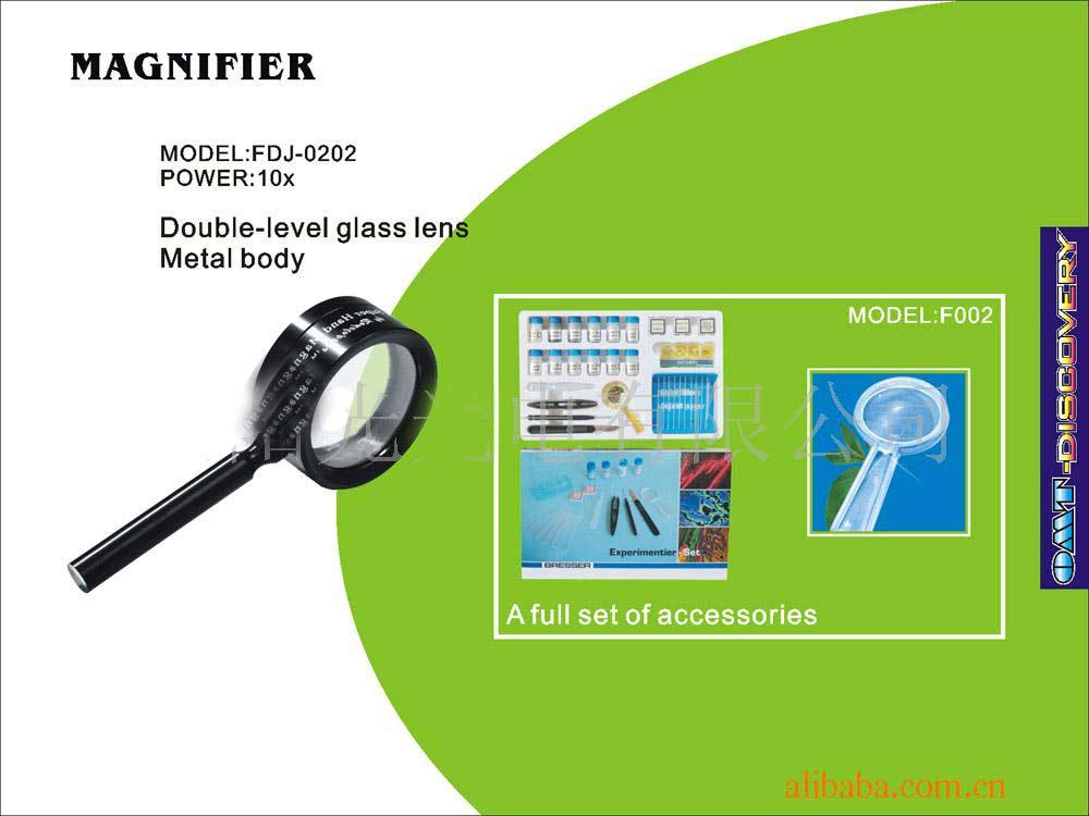 Magnifier, Double-Level Glass Lens, Metal Body (Лупы, двухэтажный стеклянный объектив металлический корпус)