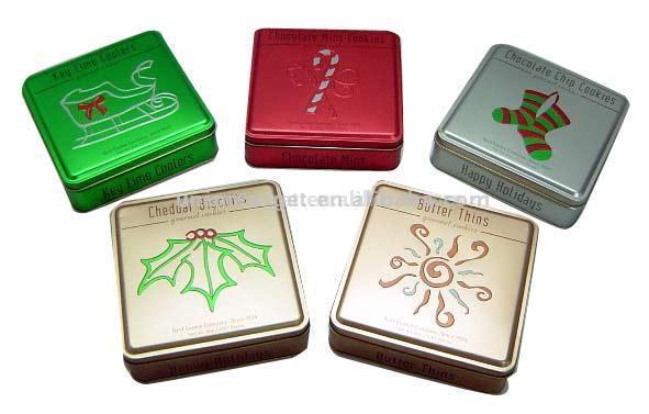 Square Tin Box (T-20011A)