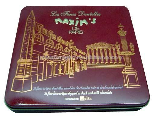 Square Chocolate Tin Box (Площадь Шоколад Tin Box)