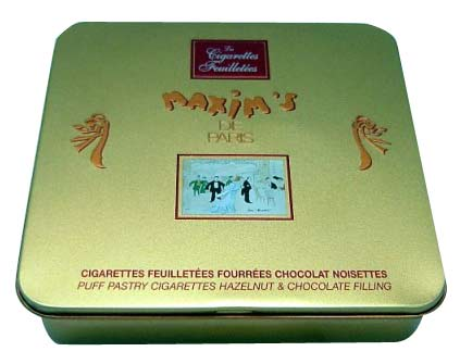 Rectangular Chocolate Tin Box with Hinge (Прямоугольные шоколад Tin Box с шарнирно)