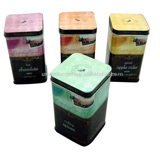 Square Coffee Tin Box