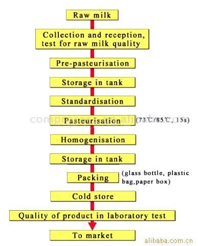 Pasteurized Milk Processing Line (Молоко пастеризованное Технологическая линия) .