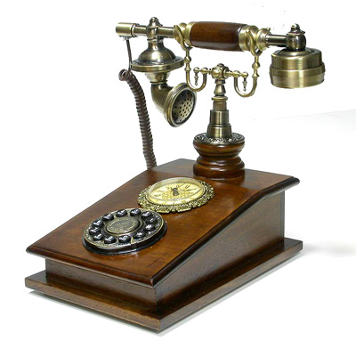 Antique Money on Antique Looking Cordless Phone By Mircea