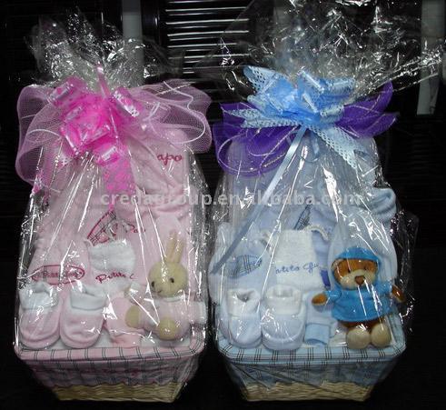 9pc Baby Geschenkkorb 9pc Baby Gift Basket