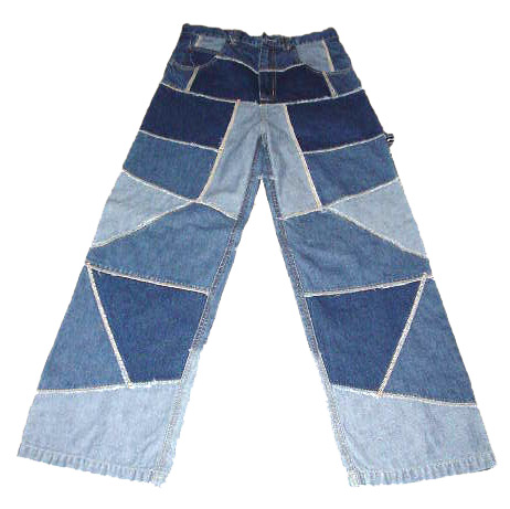 Patch-Sewn Denim Pants
