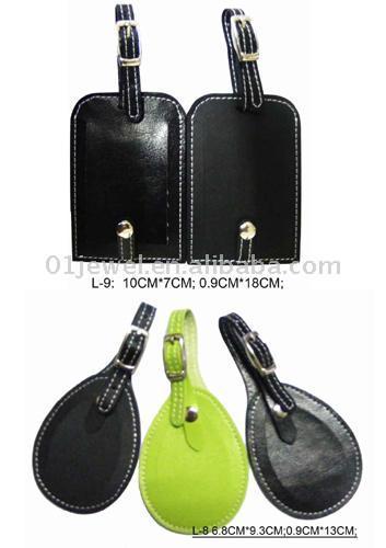 Leather Luggage Tag (Кожа багажную бирку)