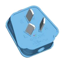 Overload Current Protection Anglic Standard Plug (La surcharge de protection courante Anglic Standard Plug)