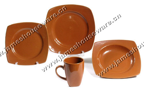 Color Glazed Dinner Set