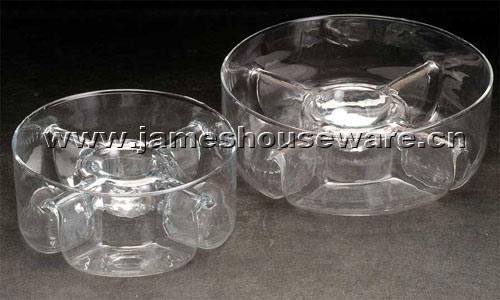 Glass Salad Bowl Set (Стекло Салатница Установить)