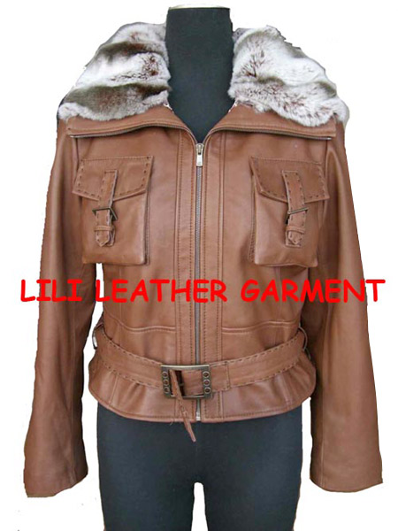 Ladies` Lamb Nappa Garment (Washed Jacket)