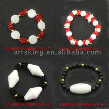 Red-White and Black-White Series Bracelets