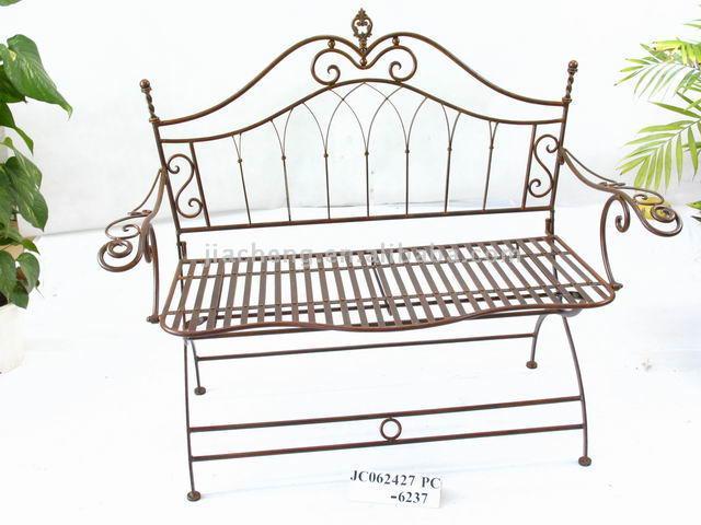 Metal Folding Garden Bench (Металлическими усиками Садовая скамья)
