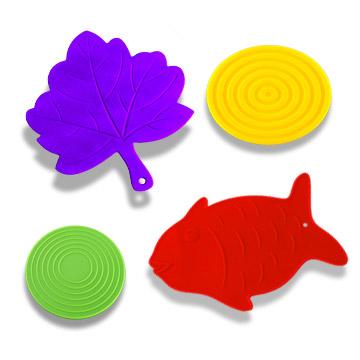 Silcone Pot Holders (Leaves and Fish) (Silcone горшка Держатели (листья и рыбы))