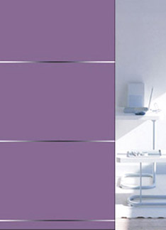 Colored Glass with Mirror Coating Bright Strip(SCS-039)