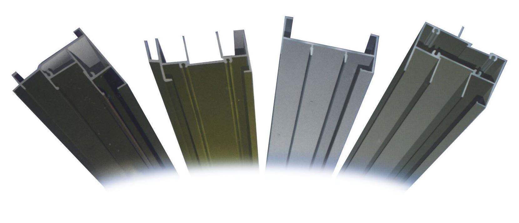 Powder Coated Aluminum Profile (Powder coated aluminium profil)