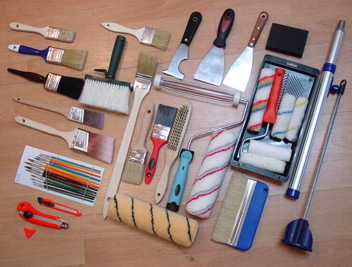 Pinsel, Farbroller, Decorating Tools (Paint Brushes, Paint Roller ...