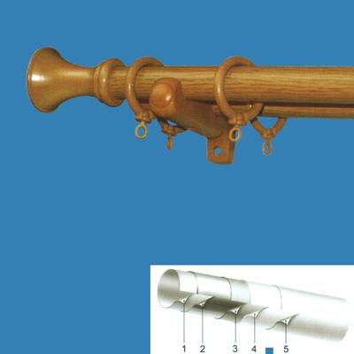 Wooden-Simulated Plastic-Covered Steel Curtain Rod (Деревянная-имитации, покрытой пластмассой Сталь карниза)