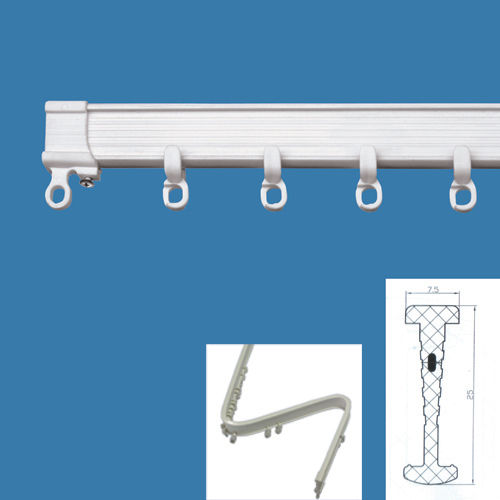 Non-Noise Curved Plastic Curtain Track (Non-шум Изогнутая пластиковые шторы Tr k)
