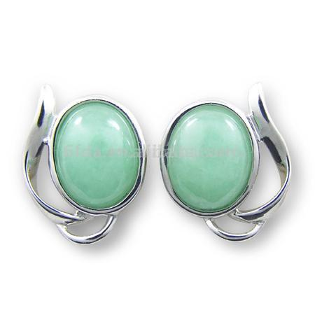 925 Sterling Silver Jade Earrings (925 Серебрянные Jade серьги)