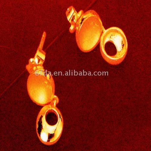 24K Gold Earring ( 24K Gold Earring)