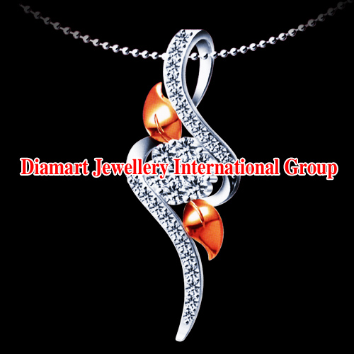 18k White Gold with Diamond Pendant ( 18k White Gold with Diamond Pendant)