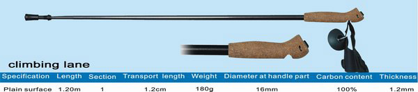 One Section Carbon Climbing Stick (Одна секция скалолазания Stick Carbon)