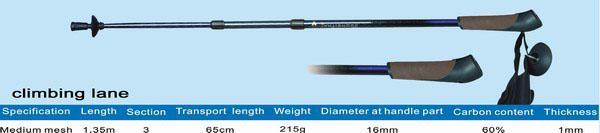 rubber handle Hiking Stick (резиновая ручка Пешие прогулки Stick)