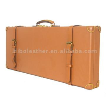 Leather Gun Case For Two Barrels (Gun Leather Case For Two Barrels)