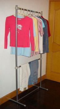 Clothes Rack with Two Extensions