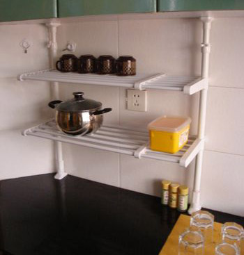 Kitchen Use Double-Decked Frame