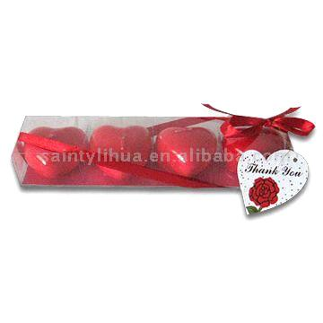 Heart-Shaped Candle Gift Set (Heart-Shaped свеча Gift Set)