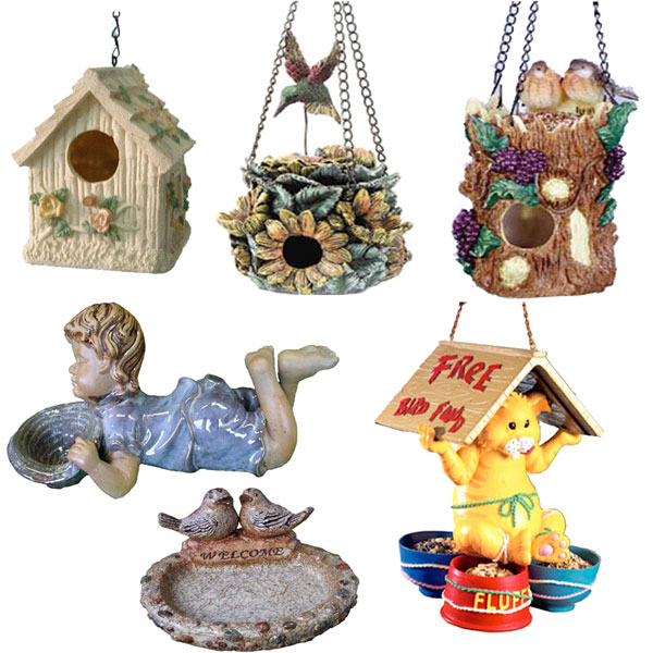 Polyresin Bird House