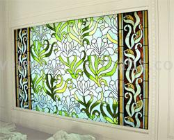 Decorated Glass Panel
