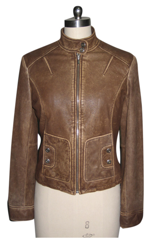 Ladies` Sheep Nappa Washed Jacket