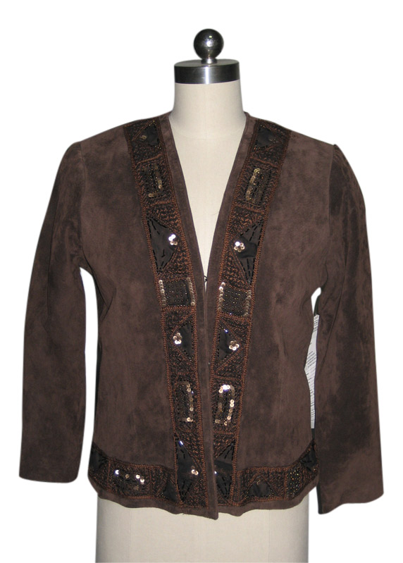 Ladies` Pig Suede Jacket