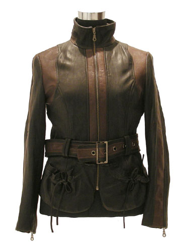 Women`s Washed Lamb Leather Coat