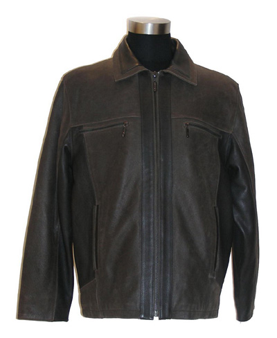 Men`s Cow Leather Coat (Мужские Cow Leather Coat)