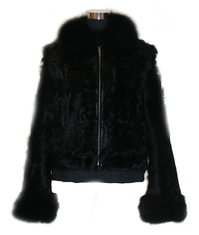 Women`s Lamb Fur Coat