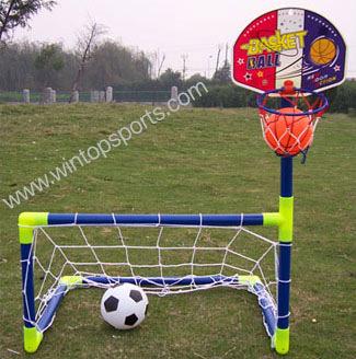 Soccer Goal mit Basketball Hoop Set (Soccer Goal mit Basketball Hoop Set)