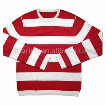 Men`s Stripe Raglan Sweater (Мужские Stripe реглан свитер)