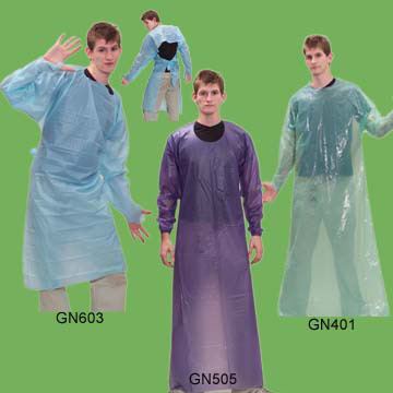 CPE Gown, PVC Gown, LDPE Gown (CPE платья, платья из ПВХ, ПНД платье)